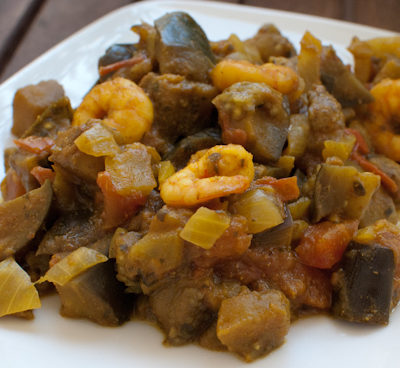 Crevettes Aubergines